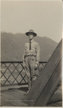 An unidentified young man is pictured in some sort of uniform.