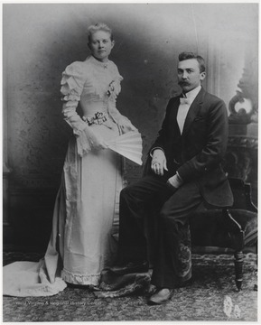 "Martha Ellen ""mattie"" Charlton Bigony and her husband, Dr. John Francis Bigony, are pictured inside Peppel's studio located on 2nd Avenue."