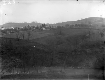 Photograph of Greenmont from Spruce St., Morgantown, W. Va.