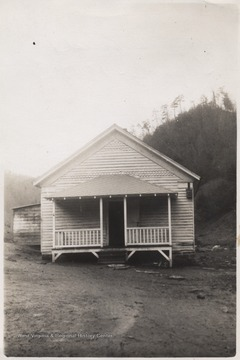 Photo of the school which was located in the lower part of the creek near True, W. Va.