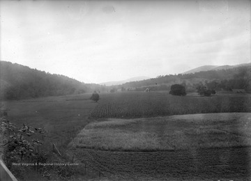 View of a farmer's field and a farm house, likely in Franklin, W. Va.