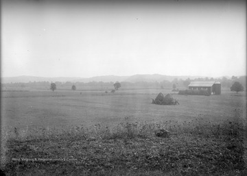 View of farmer's field and a barn likely near Franklin, W. Va.