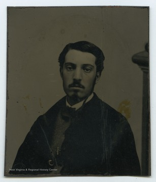 Portrait of Uncle Will from a photograph album of late nineteenth century images featuring residents from Keyser, W. Va.