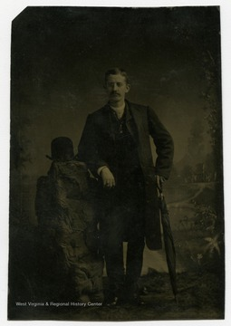 Portrait of Uncle Cy from a photograph album of late nineteenth century images featuring residents from Keyser, W. Va.