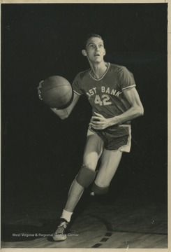 West was the team's starting small forward. He was named All-State from 1953–56, then All-American in 1956 when he was West Virginia Player of the Year, becoming the state's first high-school player to score more than 900 points in a season.