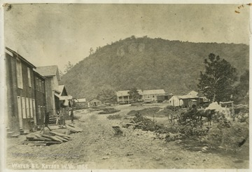 An image of Water Street found in New Creek, or Keyser, Mineral County, West Virginia.