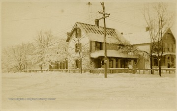 This image is part of the Thompson Family of Canaan Valley Collection. The Thompson family played a large role in the timber industry of Tucker Country during the 1800s, and later prospered in the region as farmers, business owners, and prominent members of the Canaan Valley community.George B. Thompson came to Tucker County as part of the Blackwater Boom and Lumber Company working as a secretary and timekeeper while his uncles, Frank and J. F. Thompson, were among the first stockholders of the company. Eventually he was made manager of the company until its close in 1924. He and the Thompson family remained active in the community.