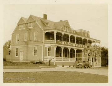 This image is part of the Thompson Family of Canaan Valley Collection. The Thompson family played a large role in the timber industry of Tucker County during the 1800s, and later prospered in the region as farmers, business owners, and prominent members of the Canaan Valley community.