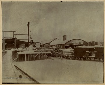 The Blackwater Boom and Lumber Company run until 1907, when the Babcock Lumber and Boom Company from Pittsburgh, Pennsylvania bought the mill.This image is part of the Thompson Family of Canaan Valley Collection. The Thompson family played a large role in the timber industry of Tucker County during the 1800s, and later prospered in the region as farmers, business owners, and prominent members of the Canaan Valley community.