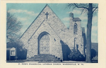 The church was organized in 1848.  The present building was built in 1945 after the original collapsed during repairs.