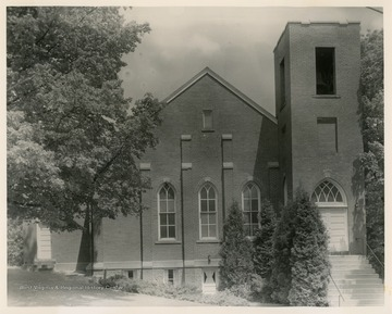 The church was organized in 1795; the present building was built in 1899 and dedicated in 1901.