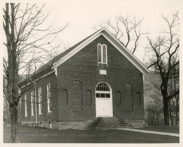 The church was organized in 1805. The first meeting house was a log cabin which was later replaced as the church grew.  The current building was built in 1871 and then rebuilt after a fire in the 1880s. The church contributed to the founding of Salem College in 1888.