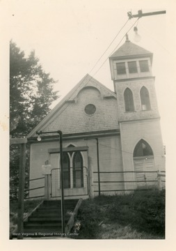 The church was organized in 1855 in the Ten Mile District.  The original church had to relocated to clear the way for the Baltimore and Ohio Railroad.