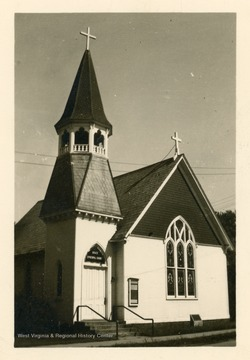 The church was organized in 1851. The church was destroyed in a fire in 1900.  The new church was dedicated in 1902.