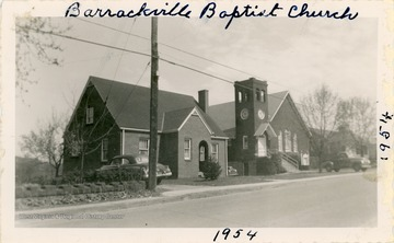 The church was organized in 1841.  The current church was built in 1921.