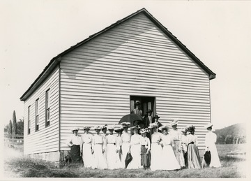 The church was organized in 1833 and the original log building was erected in the same year.  The church building pictured was built in the Spring of 1869.
