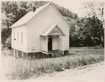 The church is located near Weston on Smith's Run. It was organized in 1832. The present building was built in 1852.