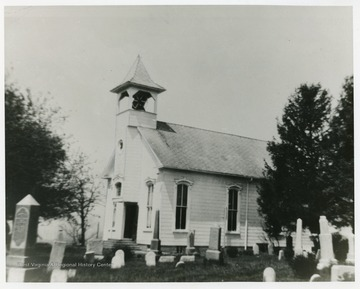 The church was organized in 1847. It is located 2 miles from Big Wheeling Creek at Sand Hill.