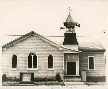 The church was organized in 1856.  In 1885 the Ohio River Railroad was built in front of the church causing so much noise that the congregation had the building moved by the railroad company to its present location.