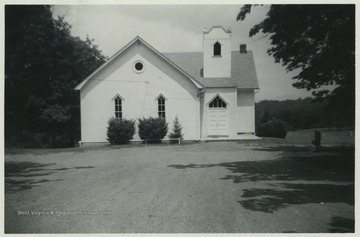 The congregation of this church, which was officially established in 1852, stems from one of the earliest Christian movements in the rural parts of Morgan County when Methodist minister George Wells traveled to teach in several different homes.This building is located off of West Virginia Route 9 at Spohrs Cross Roads.