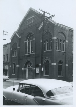 The church was established in 1849 in the industrial part of town once known as Ritchietown. There were no paved streets or walks and kerosene lamps were used for lighting. The church was 14 years old when West Virginia became a state.