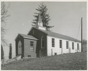 "The church was established in 1811 and the building served as a community ""Meeting House"" as well as a school."