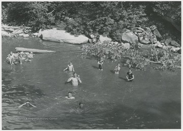 Swimmers are likely in the Guyandotte River.