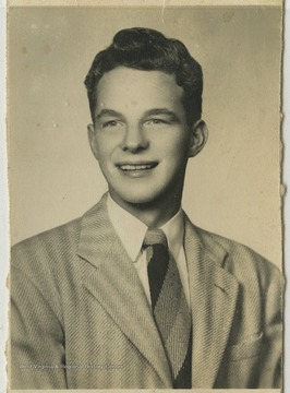 "Terra Alta High School student and senior class president James ""Jimmy"" Parsons poses for his school photo."