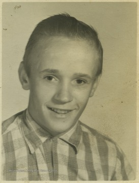 Davis, a student at Southern Garrett High School, poses for his school photo.