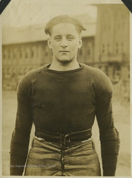 "Lentz ('20), nicknamed ""Beanie"", was a halfback for the West Virginia University football team."