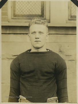 "Fred ""Ike"" Mills ('20) played an end position for West Virginia University's football team. He came to WVU from Keyser Prep, where he had won himself a name as a backfield man. Shortly after the 1917 season, Mills enlisted in the military."