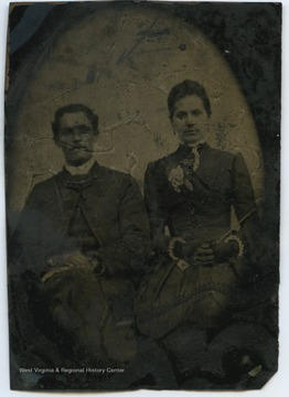 Harsh, left, and Hoffman, right, are relatives of Samuel F. Harsh.