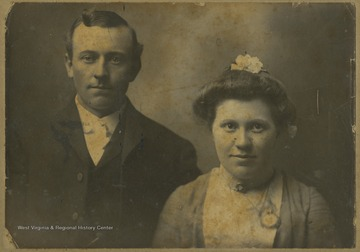 Portrait of the married couple, who were relatives of Mrs. Earl R. Zinn.