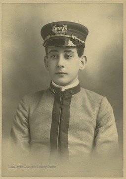 Portrait of an unidentified member of the WVU Cadet Corps.