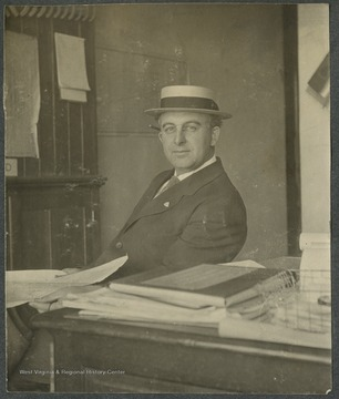 Belgen was born in Boston, Massachusetts, and attended Harvard University, graduating in 1897.  He worked as an engineer in Central America, South America, Washington, D. C., and eventually began working for the Baltimore and Ohio Railroad company.  In 1916, he was Chief Engineer of the Baltimore and Ohio Railroad System.This photograph is found in a scrapbook documenting the survey for the Baltimore and Ohio Railroad in West Virginia and surrounding states.
