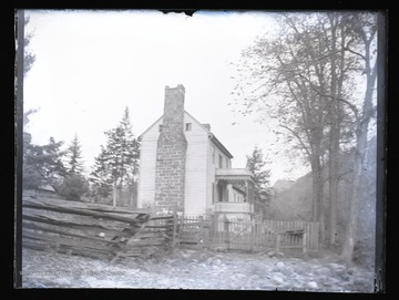 Side view of home, likely located in Franklin, W. Va.