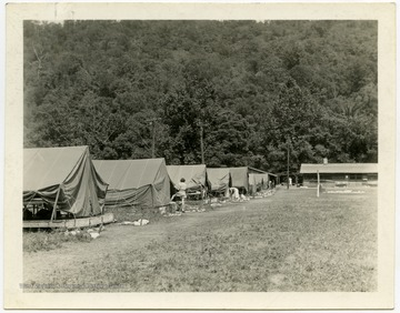 "From reverse: ""Camp View - Dining Room & Tents"""