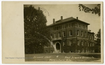 A view of Science Hall, now known as Chitwood Hall.