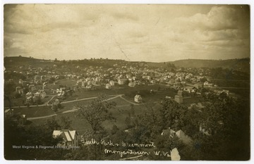 A bird's eye view of the South Park and Greenmont neighborhoods of Morgantown.