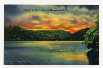 """Sunrise on Cheat Lake near Morgantown, W.Va."""