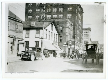 A view of High Street showing the Monongahela Building.