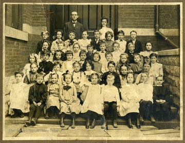A class of the Second Ward School with their teachers.