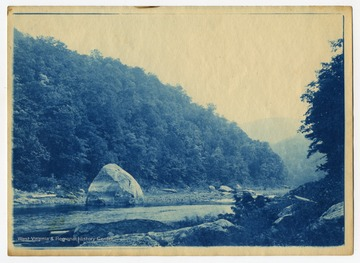 Squirrel Rock was submerged when the Cheat Lake Dam opened in 1926.
