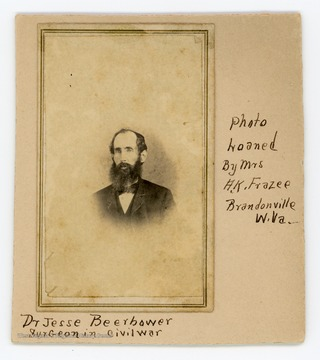 Dr. Jesse Beerbower, who practiced in Bruceton Mills, W. Va., was a surgeon with the Third Maryland Infantry during the American Civil War.