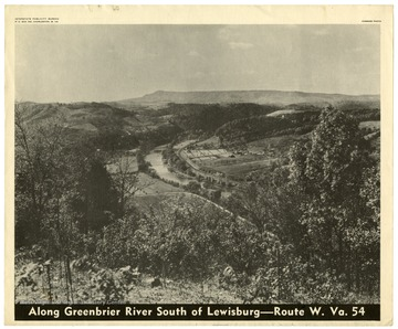 A bird's eye view of the Greenbrier River in Greenbrier County, W. Va.