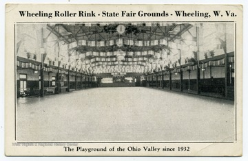 The Wheeling Roller Rink, also known as the Milam Roller Rink, was part of the state fairgrounds located on Wheeling Island. The building is still standing.