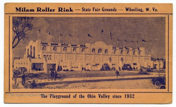 "Caption on the back reads, ""One of the finest and most modern equipped Roller Rinks in U. S. A.  Music by Hammond Electric Organ - Two large reflectors for moonlight skating. Building 100 x 300 ft. Beginners section separate. 15 x 180 ft. Skating Nightly - Saturday and Sunday Afternoon. Cecil Milam, Mgr."""