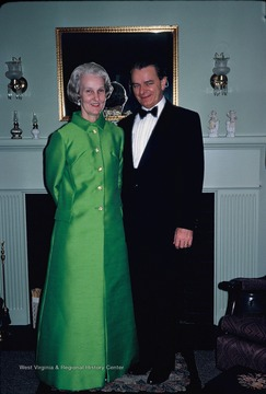 Senator and Mrs. Robert C. Byrd are pictured at the Borror home at 3734 N. 4th Street, Arlington, V. A.